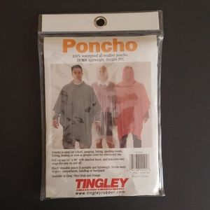 Poncho Clear PVC Tingley Rubber